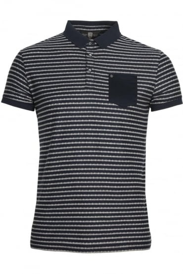 Royce Striped Polo Shirt Navy