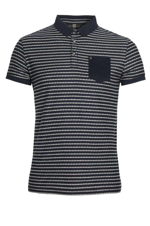 Navy 883 POLICE Royce Striped Polo Shirt
