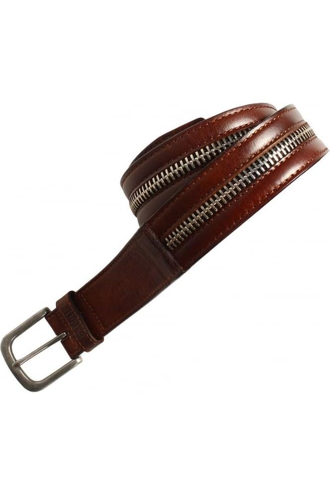 883 POLICE Sanchez Tan Leather Belt