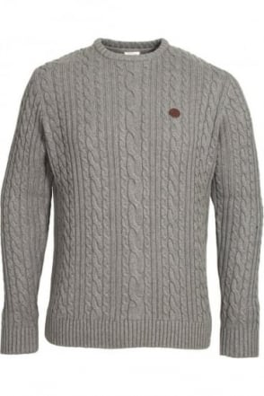 Secret Marl Grey Cable Knit Sweater