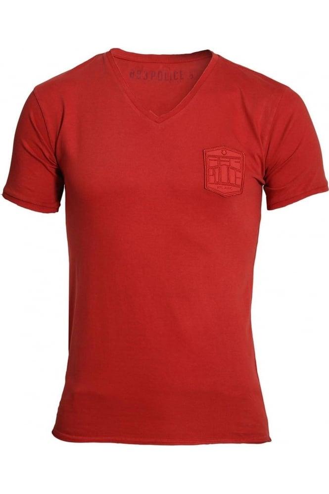 883 POLICE Showtek T-Shirt | Bossa Red & Mustard