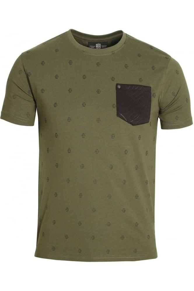 883 POLICE Viking Pocket T-Shirt Military Green