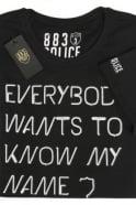 883 POLICE Wade Logo T-Shirt   Night Black