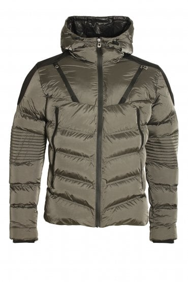 Walter Quilted Hooded Jacket Charcoal