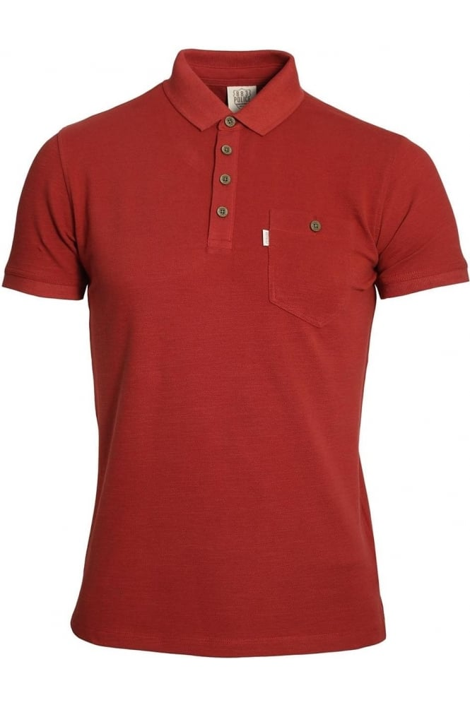883 POLICE Winton Polo Shirt | Rosewood Red