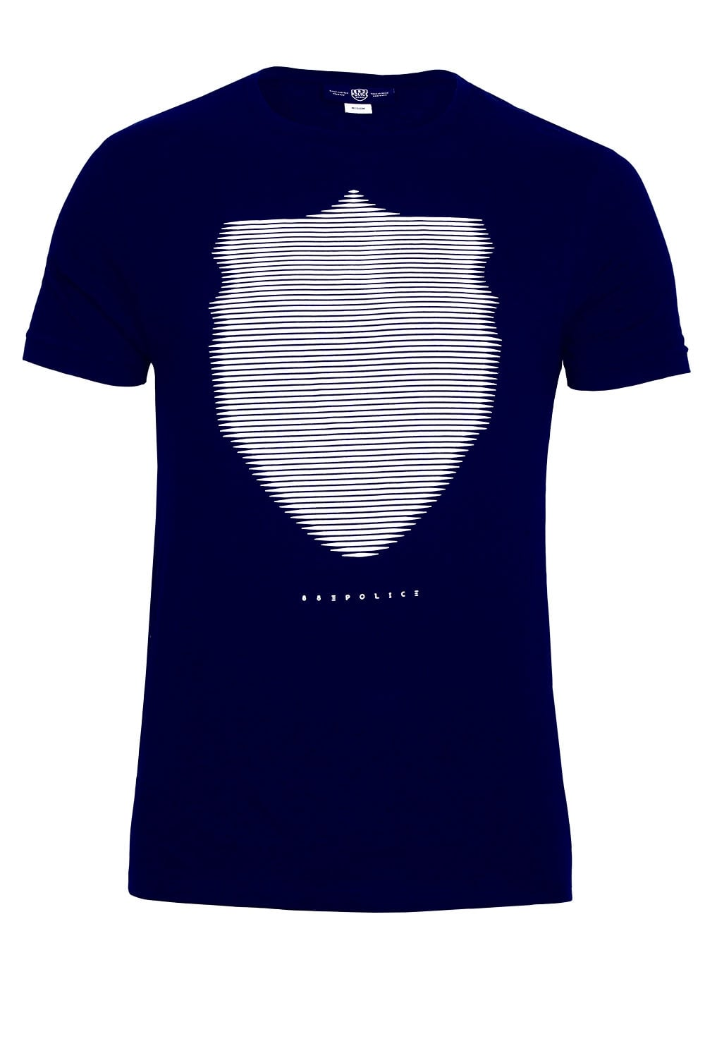 883 Police Wolf Graphic Print Navy T Shirt Shop 883