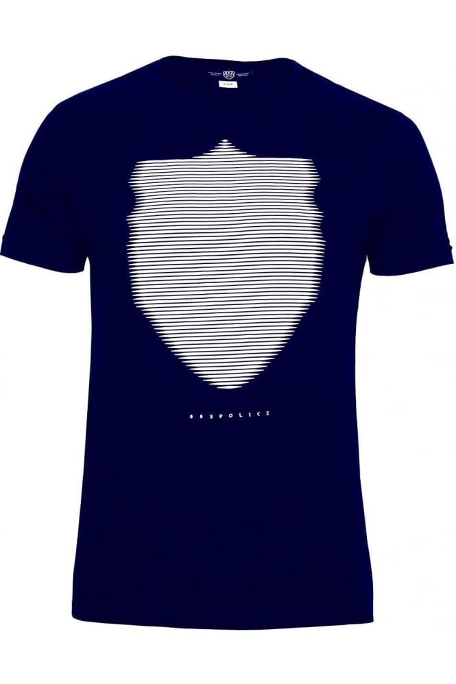 883 POLICE Wolf Graphic Print T-Shirt Navy