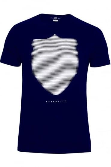 Wolf Graphic Print T-Shirt Navy