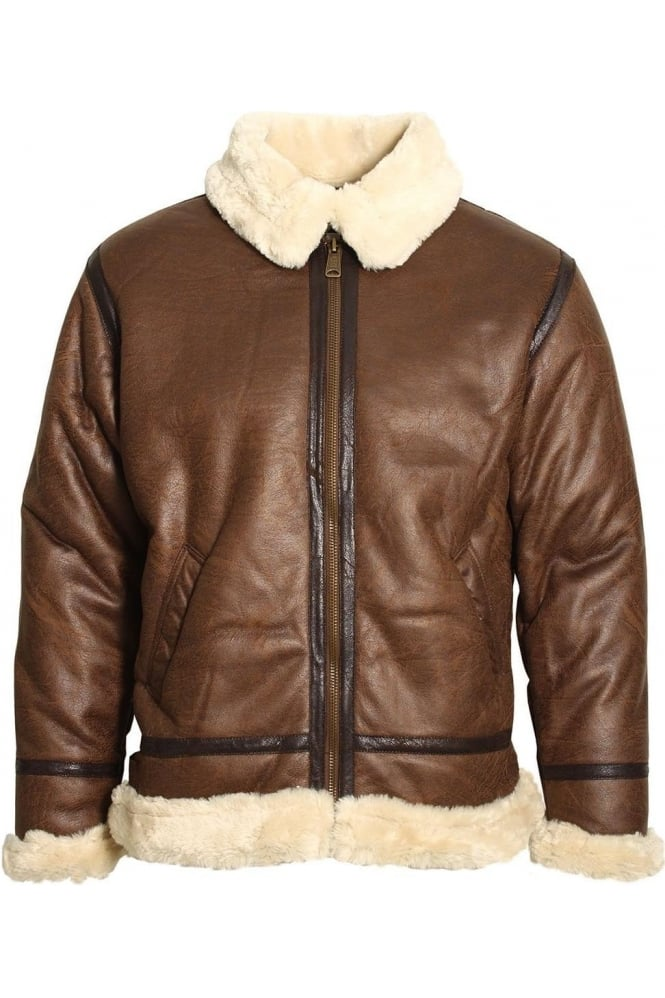 ALPHA INDUSTRIES B3 Bomber Jacket Brown