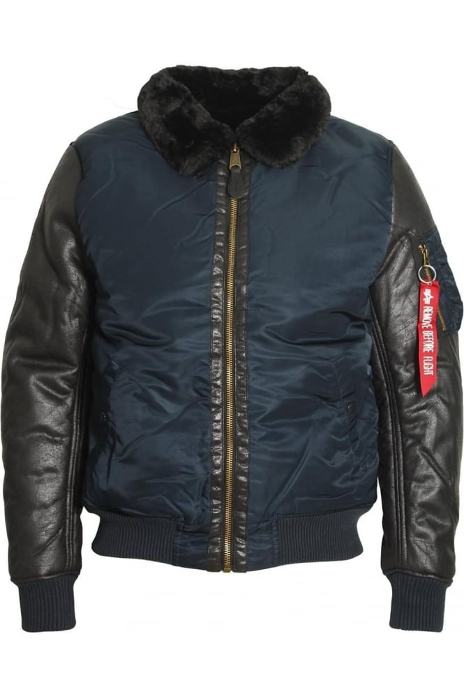 ALPHA INDUSTRIES B3 M Bomber Jacket Rep Blue