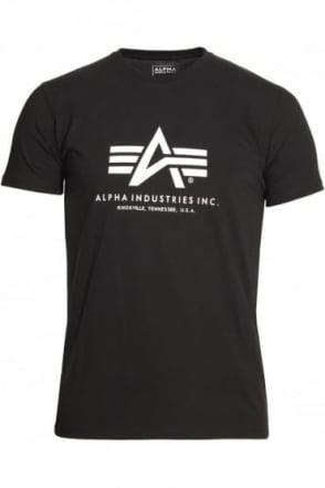 Basic Black Cotton Logo T-Shirt