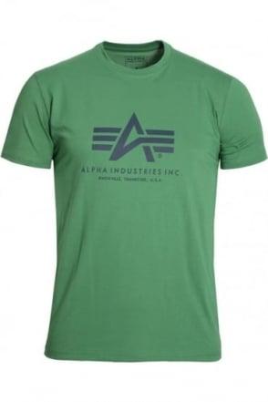 Basic Bold Green Cotton Logo T-Shirt
