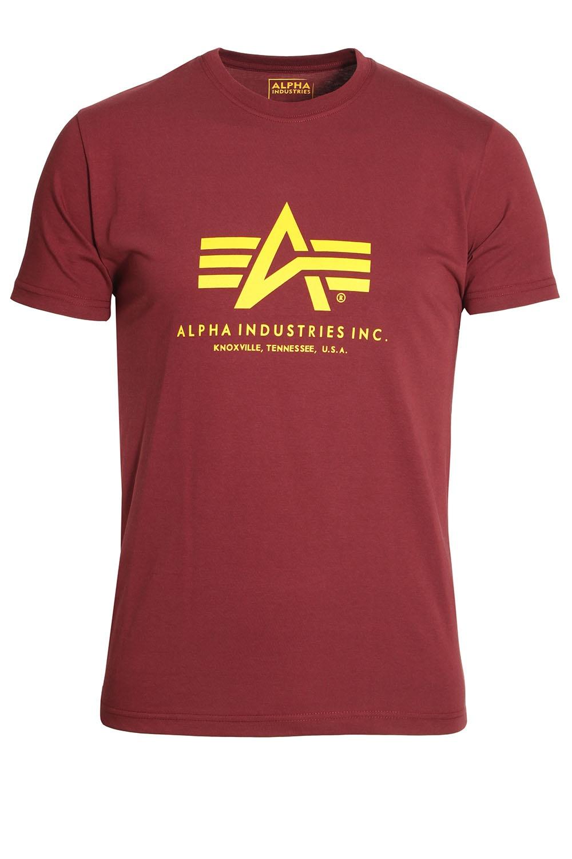 alpha industries basic t shirt bergundy buy alpha industries t shirt. Black Bedroom Furniture Sets. Home Design Ideas