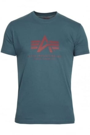 Basic Petrol Blue Logo T-Shirt