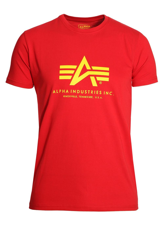 alpha industries basic red cotton logo t shirt shop alpha t shirts. Black Bedroom Furniture Sets. Home Design Ideas