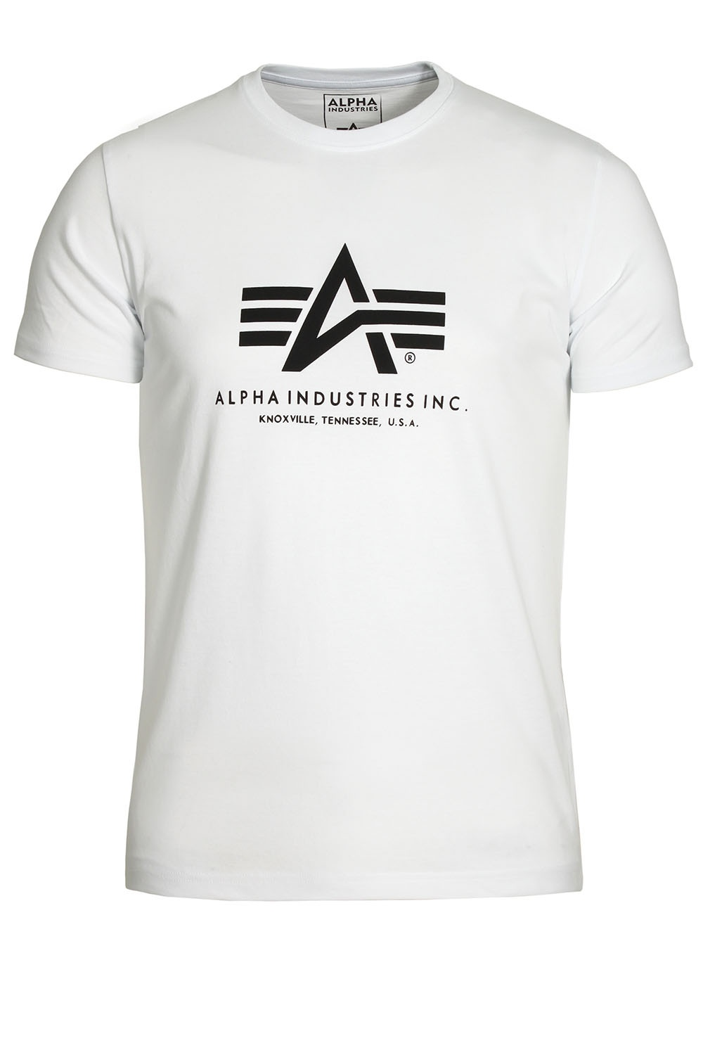 d8297e2e00a93 Alpha Industries Basic White Cotton Logo T-Shirt