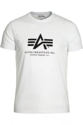 Basic White Cotton Logo T-Shirt