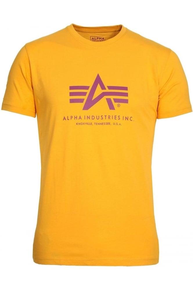 ALPHA INDUSTRIES Basic Yellow Logo T-Shirt