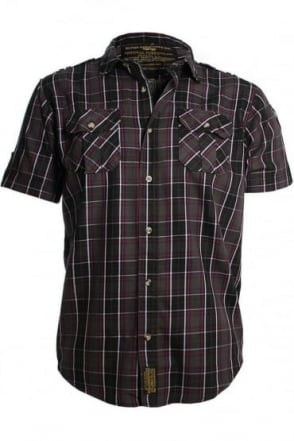 Checked Combat Shirt | Charcoal