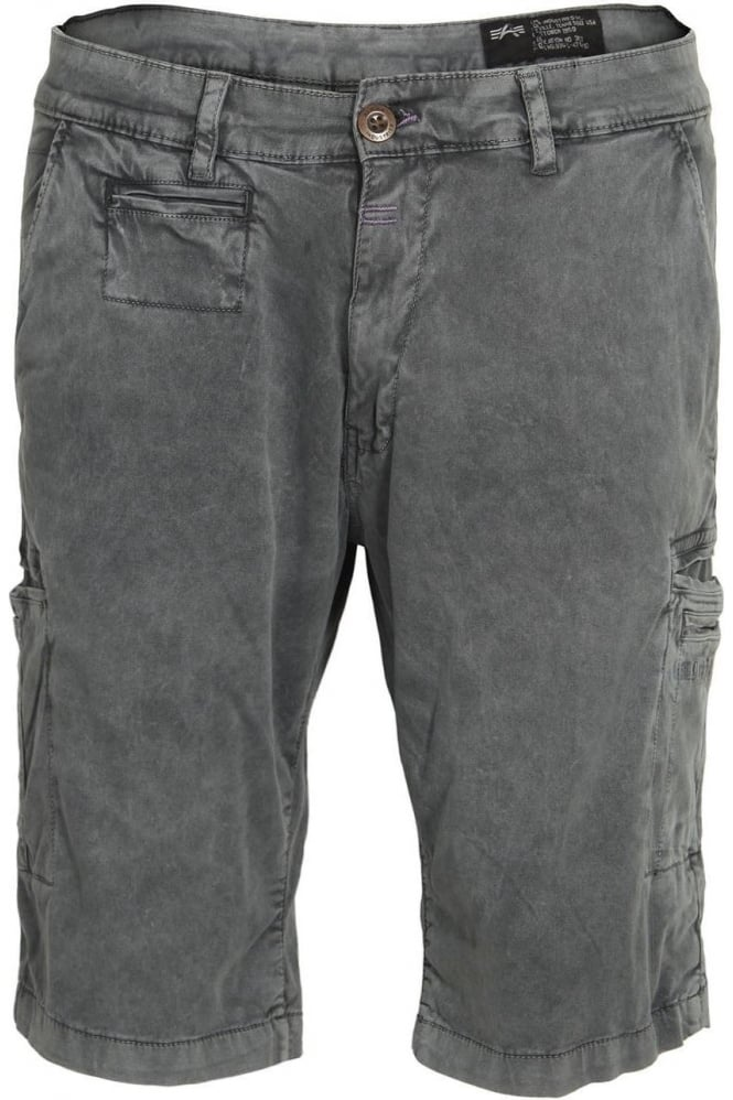 ALPHA INDUSTRIES Deck Cargo Shorts Grey Blue