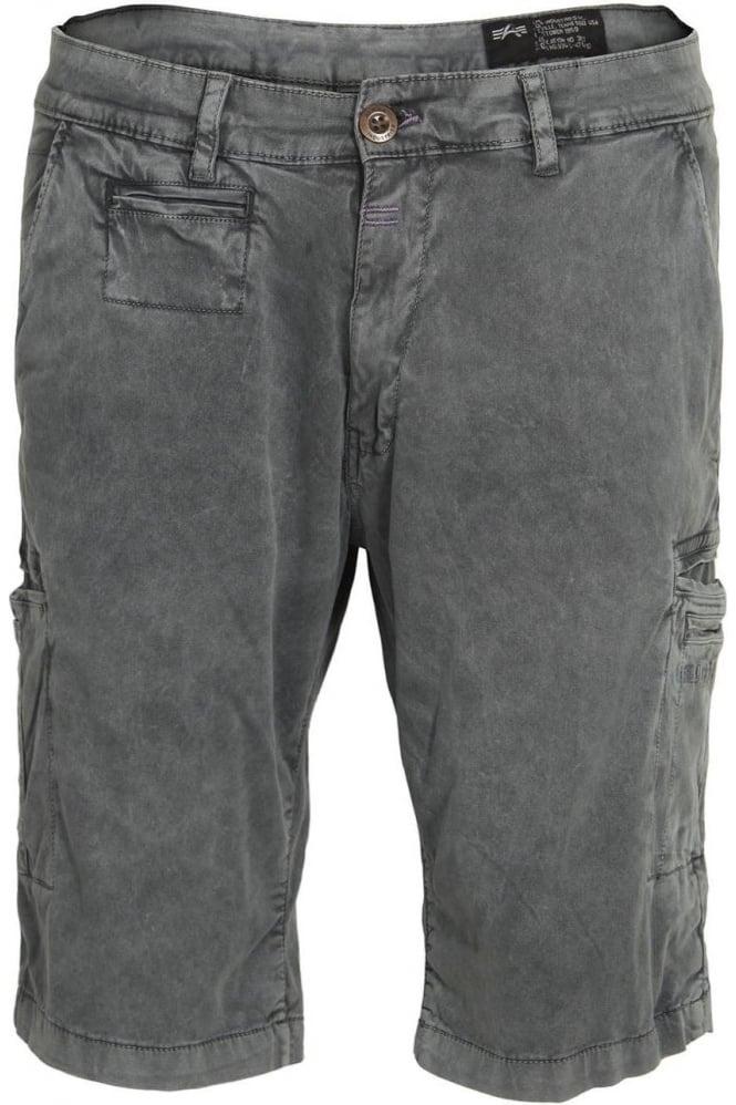 ALPHA INDUSTRIES Deck Cargo Shorts Grey Blue