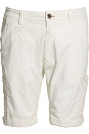 Deck Cargo Shorts White