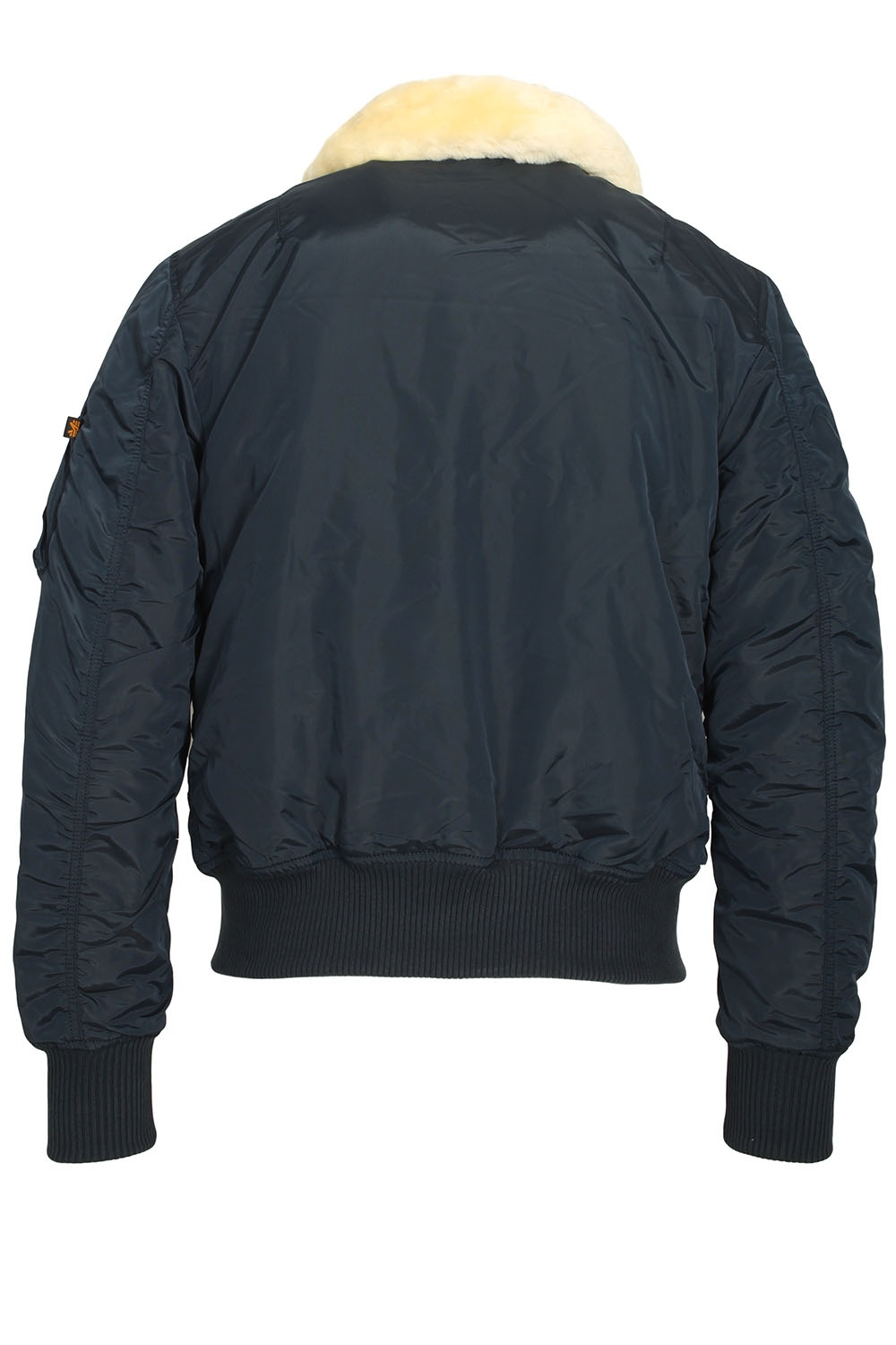 alpha industries injector iii rep blue shear collar bomber jacket. Black Bedroom Furniture Sets. Home Design Ideas