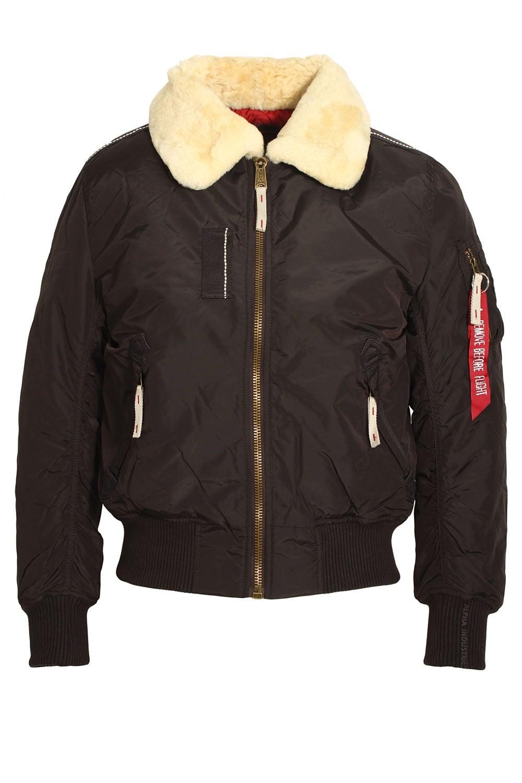 Alpha Industries Injector Iii Vintage Brown Bomber Jacket