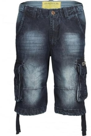 Jet Dark Denim Cargo Shorts