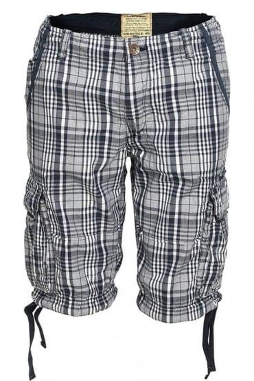 Jet II Check Shorts | Navy