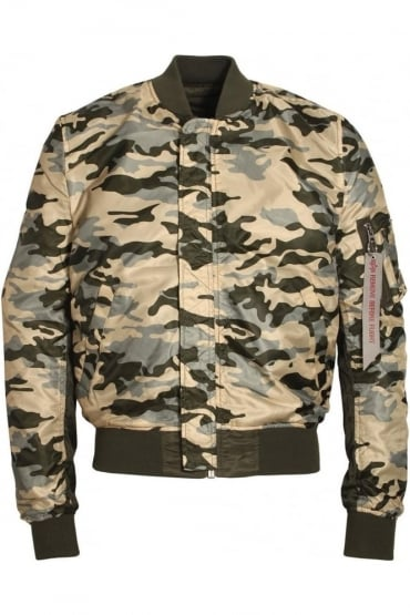 MA-1 Reversible Camo Bomber Jacket | Rep Grey