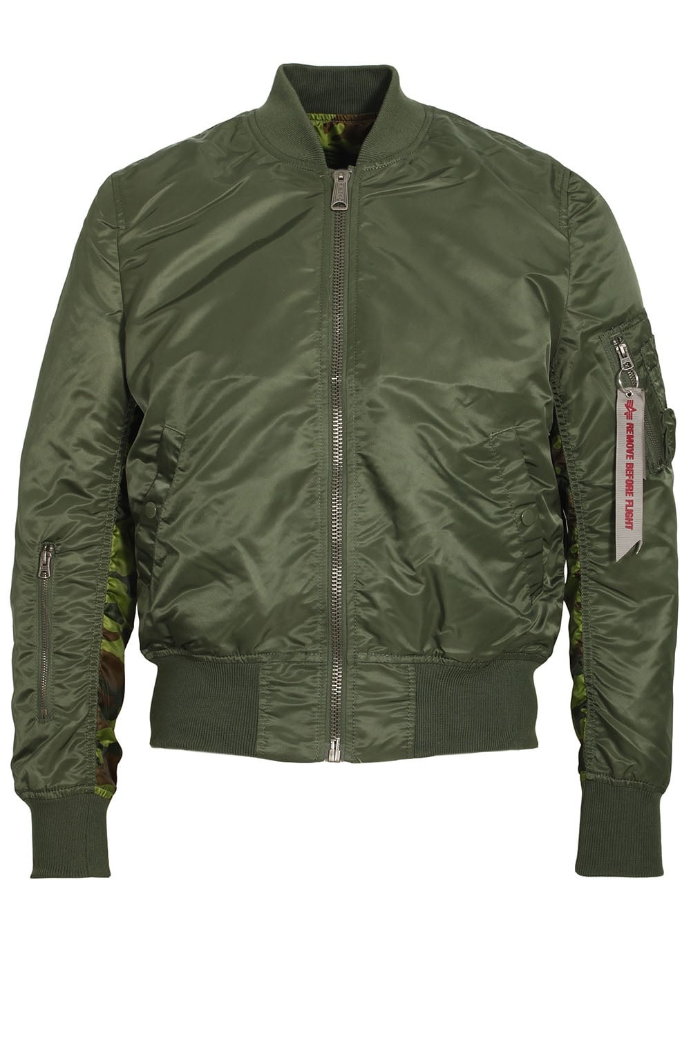 alpha industries ma 1 reversible camo bomber jacket sage green. Black Bedroom Furniture Sets. Home Design Ideas
