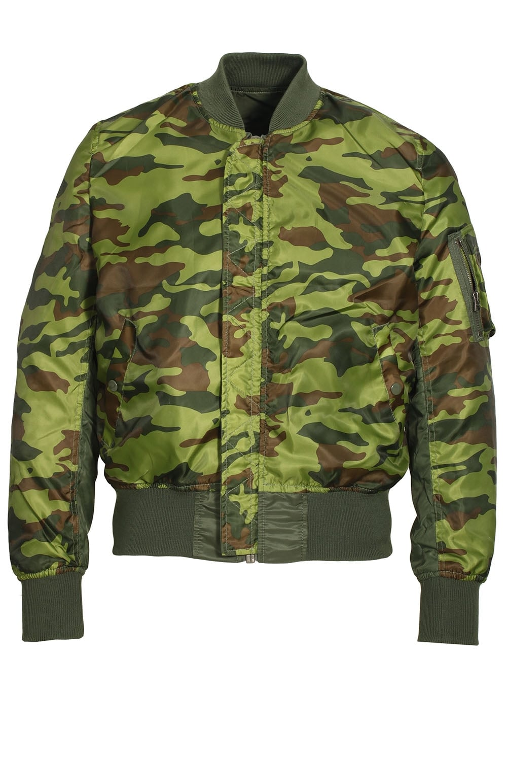 Alpha Industries Ma 1 Reversible Camo Bomber Jacket Sage