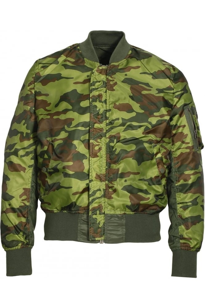 ALPHA INDUSTRIES MA-1 Reversible Camo Bomber Jacket | Sage