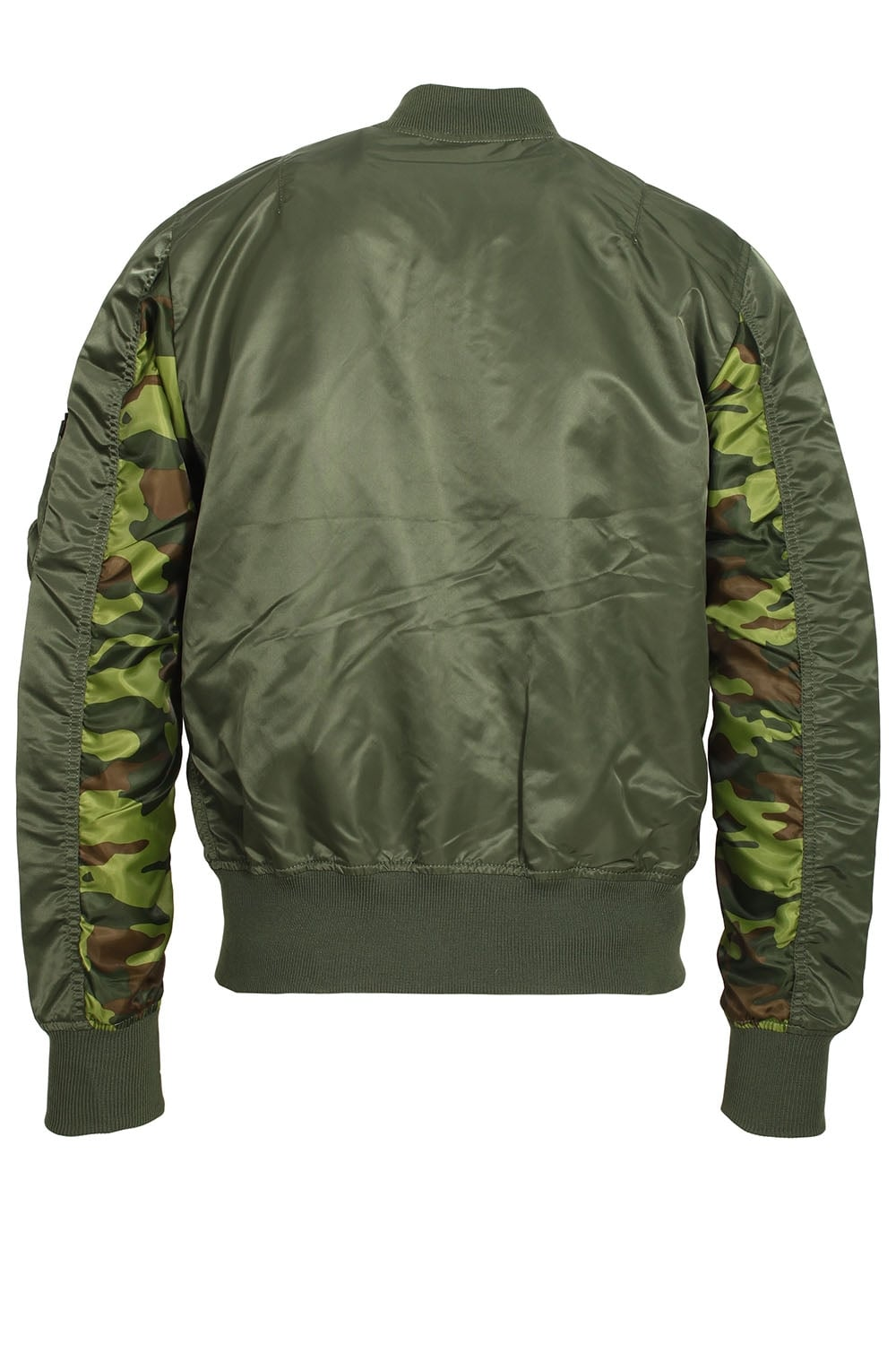 alpha industries ma 1 reversible camo bomber jacket sage. Black Bedroom Furniture Sets. Home Design Ideas
