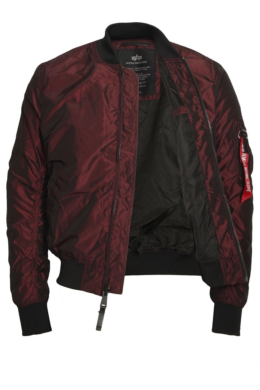 alpha industries ma 1 tt iridian burgundy bomber jacket. Black Bedroom Furniture Sets. Home Design Ideas