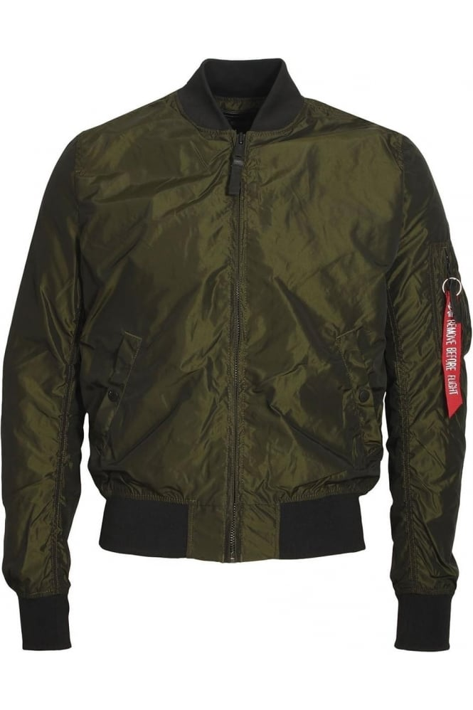 ALPHA INDUSTRIES MA-1 TT Bomber Jacket | Iridian Green