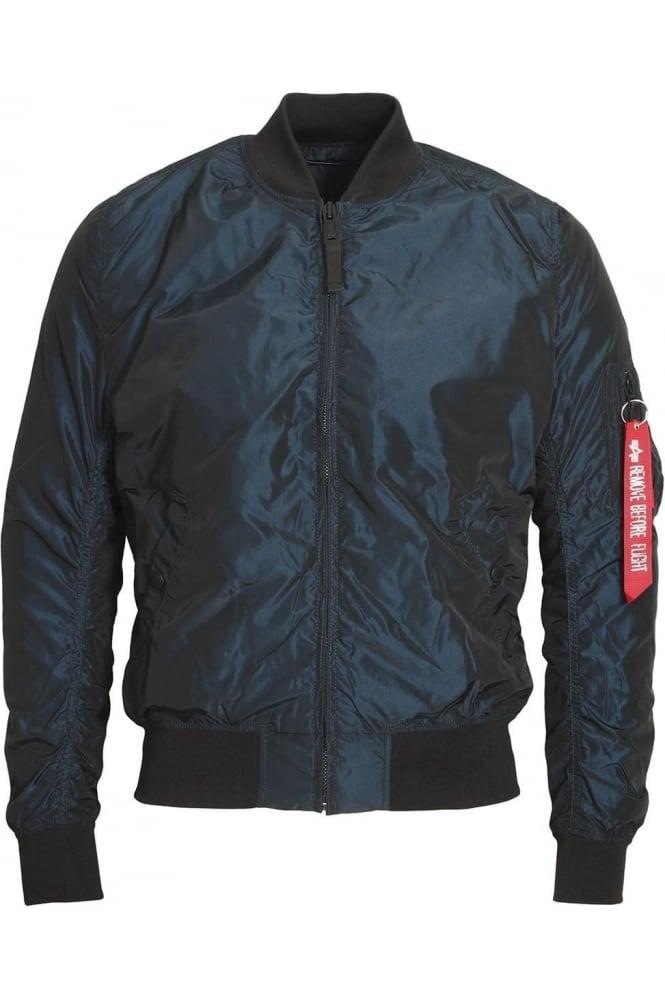 ALPHA INDUSTRIES MA-1 TT Bomber Jacket | Iridium Rep Blue