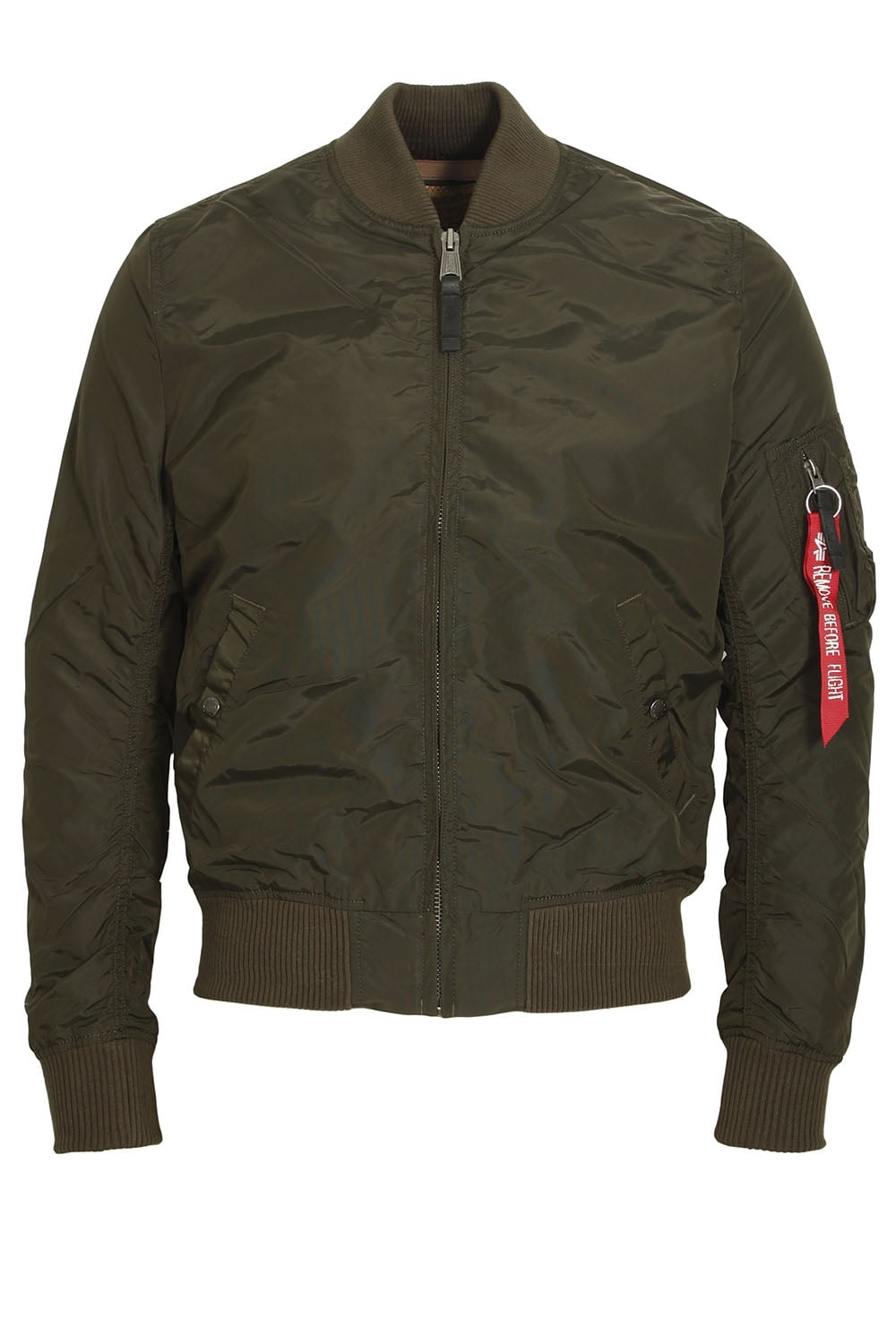 Alpha Industries Ma 1 Tt Rep Grey Bomber Jacket Shop