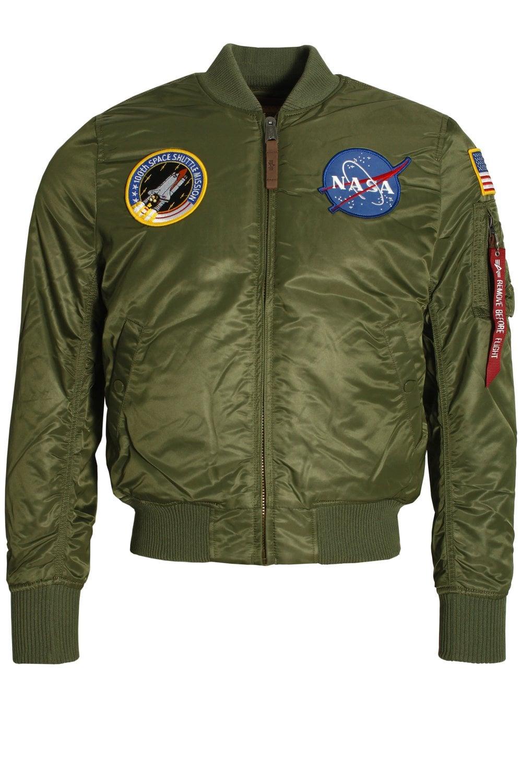50% rebajado zapatos clasicos más vendido MA-1 VF NASA AirCrew Flight Jacket | Sage Green