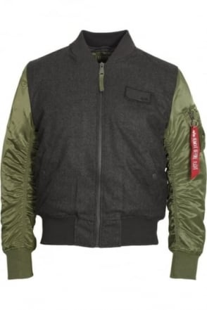 MA1 D-Tec Wool Bomber Jacket | Sage