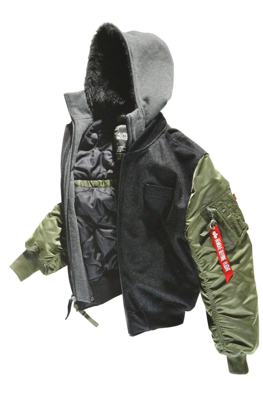 ALPHA INDUSTRIES MA1 D Tec Wool Bomber Jacket | Sage