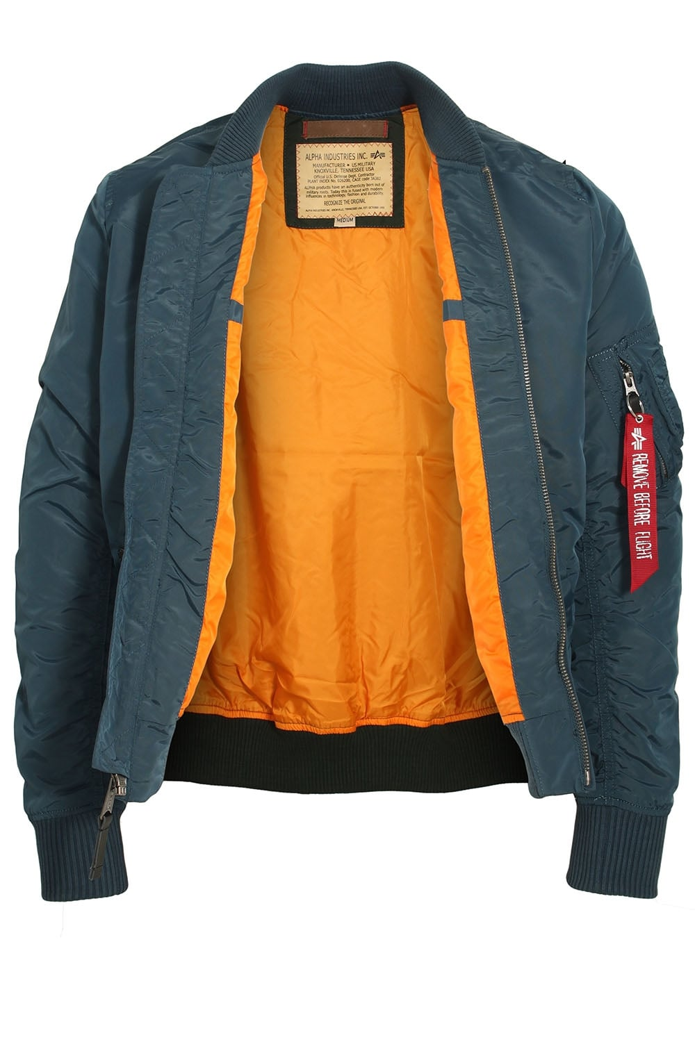 a089986a7 ALPHA INDUSTRIES MA1 TT Bomber Jacket Bold Blue