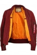 ALPHA INDUSTRIES MA1 TT Bomber Jacket Burgundy