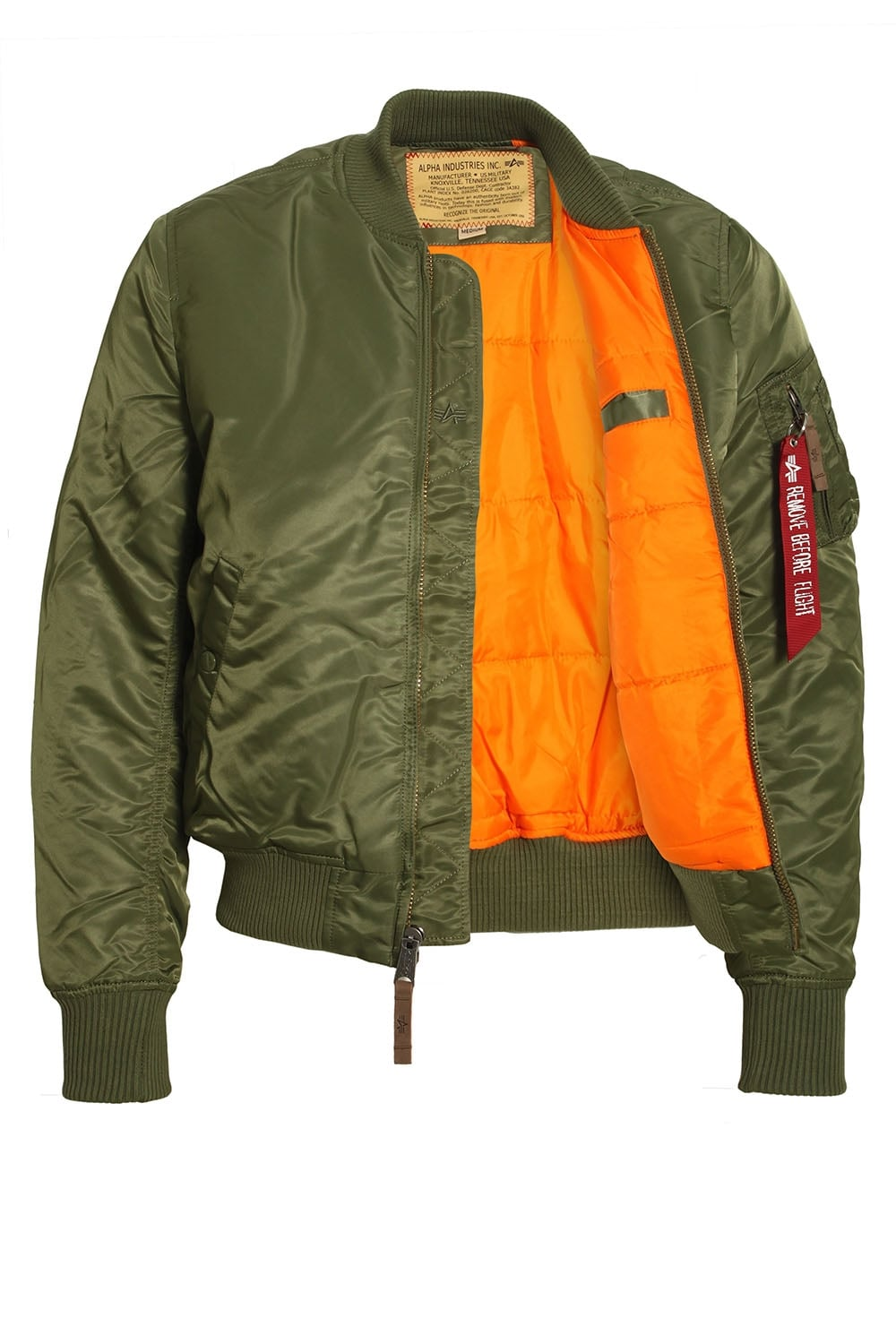 alpha industries ma 1 vf 59 sage green bomber jacket. Black Bedroom Furniture Sets. Home Design Ideas