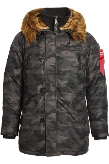PPS N3B Cold Weather Parka | Black Camo