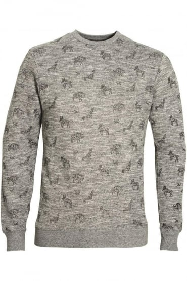 Alford Men's AOP Printed Sweatshirt | Grey