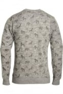 BELLFIELD Alford Men's AOP Printed Sweatshirt | Grey