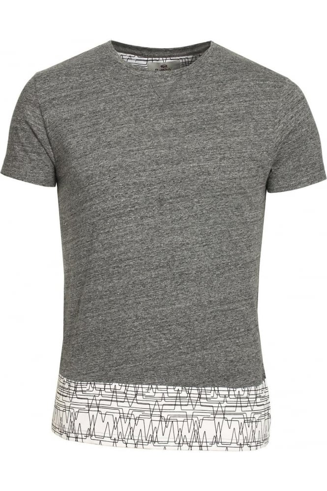 BELLFIELD Asberg Splice T-Shirt With Linear Print