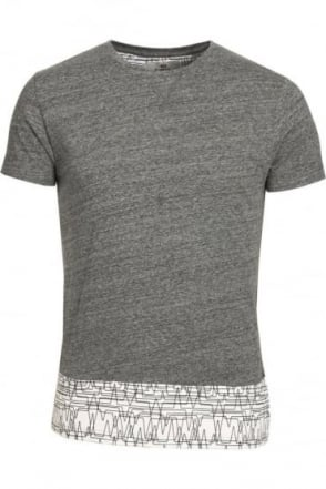 Asberg Splice T-Shirt With Linear Print